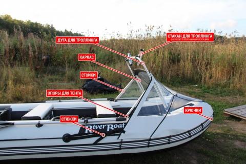 Носовой тент на лодку ПВХ