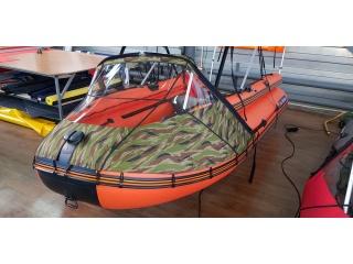 Прозрачный носовой тент на Профмарин 370 AIR Фальшборт