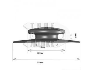 Грибок для тента (под резинку) на лодку ПВХ черный