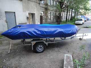 Транспортировочный тент на лодку Вельбот 37