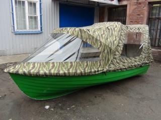 Тент трансформер на лодку Шарк 400