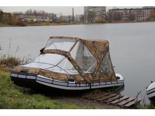 Тент трансформер КОМБИ на лодку длиной 330 - 370 см