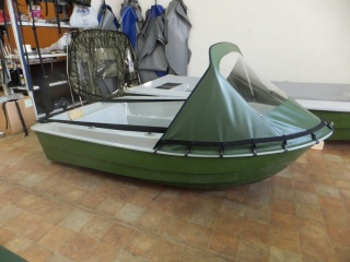Носовой тент на лодку Шарк 330-400