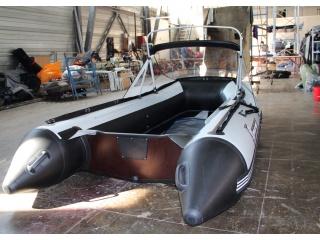 Прозрачный носовой тент с таргой на лодку Polar Bird 360