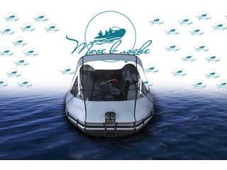 Прозрачный носовой тент на лодку Таймень 2800