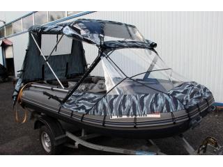 Тент КОМБИ на лодку ФЛАГМАН 420
