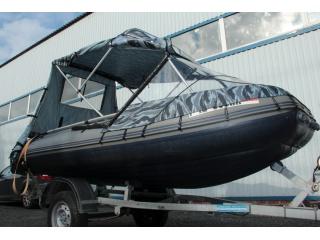 Тент КОМБИ на лодку ФЛАГМАН 450