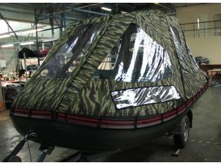 Тент трансформер на лодку БЕЛУГА Black 380про