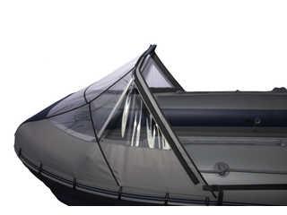 Прозрачный носовой тент на лодку Фрегат 460К