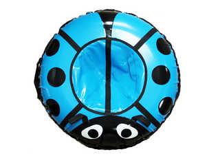 """Надувная ватрушка для катания серии """"Божья коровка"""", диаметр 92 см. Синяя"""
