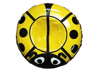 """Надувная ватрушка для катания серии """"Божья коровка"""", диаметр 92 см. Желтая"""