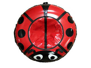 """Надувная ватрушка для катания серии """"Божья коровка"""", диаметр 92 см. Красная"""