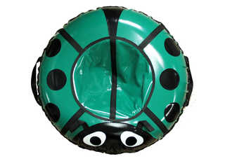 """Надувная ватрушка для катания серии """"Божья коровка"""", диаметр 92 см. Зеленая"""