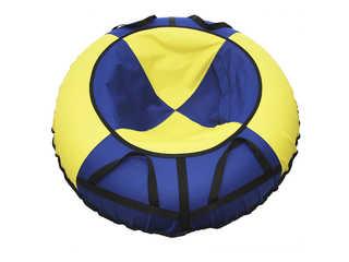 """Надувная ватрушка для катания """"Эконом"""", диаметр 110 см., синяя."""