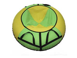 """Надувная ватрушка для катания """"Эконом"""", диаметр 110 см., зеленая."""