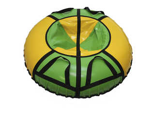 "Надувная ватрушка для катания ""Стандарт"", диаметр 110 см., зеленая"