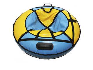 """Надувная ватрушка для катания """"Люкс ПРО"""", диаметр 110 см., голубая"""
