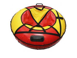 "Надувная ватрушка для катания ""Люкс ПРО"", диаметр 110 см., красная"