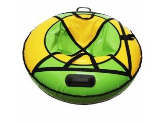 "Надувная ватрушка для катания ""Люкс ПРО"", диаметр 120 см., зелёная"