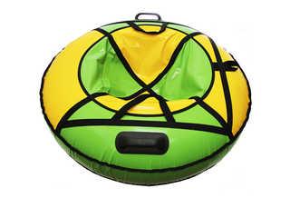 "Надувная ватрушка для катания ""Люкс ПРО"", диаметр 110 см., зелёная"