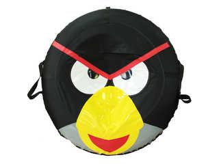 """Надувная ватрушка для катания серии """"Птички"""", диаметр 110 см., Черная."""