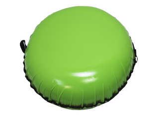 "Надувная ватрушка для катания ""Стандарт"", диаметр 80 см., зелёная"