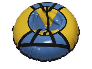 """Надувная ватрушка для катания """"Стандарт"""", диаметр 90 см., голубая"""