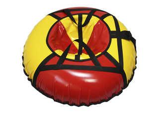 "Надувная ватрушка для катания ""Стандарт"", диаметр 90 см., красная"
