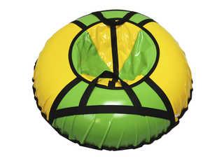 "Надувная ватрушка для катания ""Стандарт"", диаметр 90 см., зелёная"