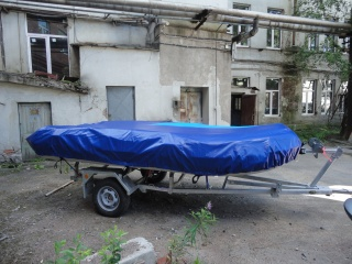 Транспортировочный тент на лодку длиной от 530 до 550 см.
