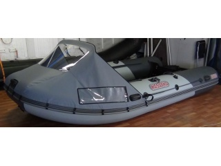 Носовой тент на лодку БЕЛУГА Black 380