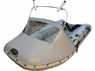 Носовой тент с таргой на лодку БЕЛУГА Black 380