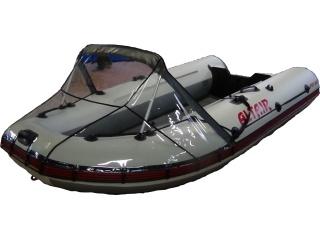 Прозрачный носовой тент на лодку MAKXXON 420