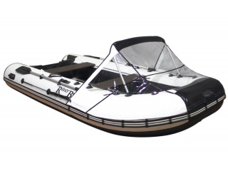 Прозрачный носовой тент на лодку АДМИРАЛ 350