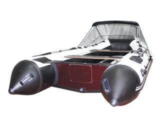 Прозрачный носовой тент на лодку длиной от 410 до 440 см.