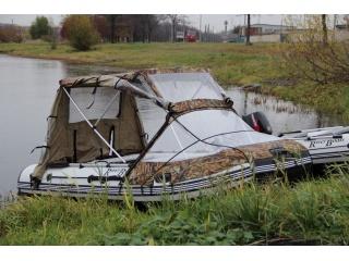 Тент КОМБИ на лодку RiverBoats RB 350TT